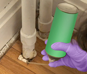 house insulation pipe gaps